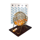 BINGO MACHINE WITH WOOD BASE & 75 BALLS