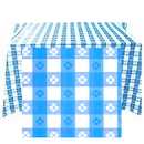 54X108 IN. LT BLUE GINGHAM PLAS TABLECVR
