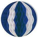 BLUE AND WHITE TISSUE BALL 19 INCH
