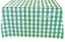 54X108IN. GREEN GINGHAM TABLECOVER
