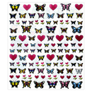 BUTTERFLY & HEART TRANSPARENT STICKERS