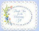 CHRISTENING THANK YOU NOTE BOY (25 CT)