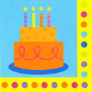 BIRTHDAY FUN DOTS LUNCHEON NAPKIN