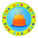 BIRTHDAY FUN DOTS DESSERT PLATE (7IN.)