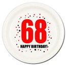 Partypro TQP-155 68Th Birthday Dessert Plate 8-Pkg