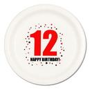 12TH BIRTHDAY DINNER PLATE 8-PKG