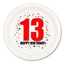 13TH BIRTHDAY DINNER PLATE 8-PKG