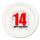 14TH BIRTHDAY DINNER PLATE 8-PKG