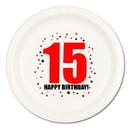15TH BIRTHDAY DINNER PLATE 8-PKG