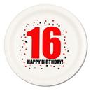 16TH BIRTHDAY DINNER PLATE 8-PKG