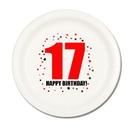 17TH BIRTHDAY DINNER PLATE 8-PKG