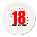 18TH BIRTHDAY DINNER PLATE 8-PKG