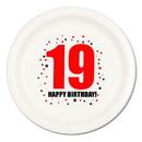 19TH BIRTHDAY DINNER PLATE 8-PKG