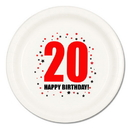 20TH BIRTHDAY DINNER PLATE 8-PKG