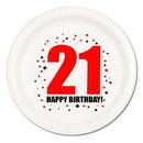 21ST BIRTHDAY DINNER PLATE 8-PKG