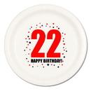 22ND BIRTHDAY DINNER PLATE 8-PKG