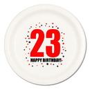 23RD BIRTHDAY DINNER PLATE 8-PKG