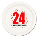 24TH BIRTHDAY DINNER PLATE 8-PKG