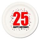 25TH BIRTHDAY DINNER PLATE 8-PKG