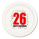 26TH BIRTHDAY DINNER PLATE 8-PKG