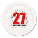 27TH BIRTHDAY DINNER PLATE 8-PKG