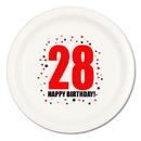28TH BIRTHDAY DINNER PLATE 8-PKG