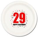 29TH BIRTHDAY DINNER PLATE 8-PKG
