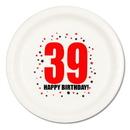 39TH BIRTHDAY DINNER PLATE 8-PKG