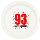 93RD BIRTHDAY DINNER PLATE 8-PKG
