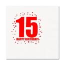 15TH BIRTHDAY LUNCHEON NAPKIN 16-PKG