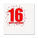 16TH BIRTHDAY LUNCHEON NAPKIN 16-PKG