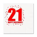 21ST BIRTHDAY LUNCHEON NAPKIN 16-PKG