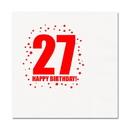 27TH BIRTHDAY LUNCHEON NAPKIN 16-PKG
