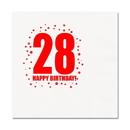28TH BIRTHDAY LUNCHEON NAPKIN 16-PKG