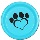 DOG LOVE BLUE DINNER PLATE(8/PKG)