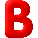 INFLATABLE LETTERS RED B