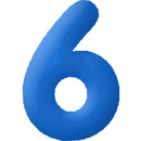 INFLATABLE NUMBERS BLUE 6