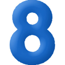 INFLATABLE NUMBERS BLUE 8