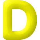 INFLATABLE LETTERS YELLOW D