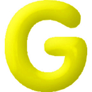 INFLATABLE LETTERS YELLOW G
