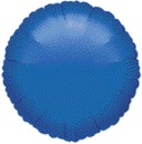 BLUE ROUND MYLAR BALLOON