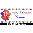Partypro BANNER-10BXLST 10Th Birthday Balloon Blast Delux Banner