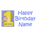 PERSONALIZED 1ST CAKES ON ME BOY BANNER