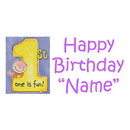 PERSONALIZED 1ST CAKES ON ME GIRL BANNER