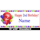 Partypro BANNER-2BLAST 2Nd Birthday Balloon Blast Name Banner