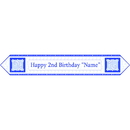 Partypro BANNER-2BLUETB 2Nd Birthday Blue Table Banner