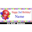 Partypro BANNER-2BXLST 2Nd Birthday Balloon Blast Delux Banner