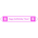 Partypro BANNER-2PINKTB 2Nd Birthday Pink Table Banner