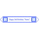 Partypro BANNER-3BLUETB 3Rd Birthday Blue Table Banner