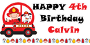 PERSONALIZED FIREMAN BANNER 18X36 INCHES